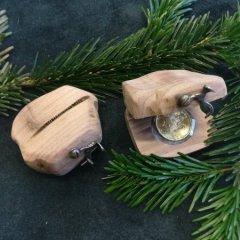 Dřevěná krabička na šperk či mince