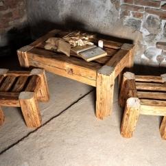 Stolek a židličky